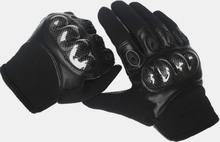 Herren Leder Verschleißfeste rutschfeste taktische militärische Ausbildung Anti-Schnitt-Vollfingerhandschuhe