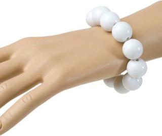 Armbånd med Hvite Perler