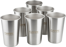 CAMPZ Stacking Cup Set Stainless Steel 6-Pieces silver 2021 Koppar & Muggar