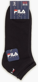 Fila 3-Pack Fila Socks Invisible Strømper Sort