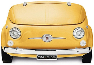Smeg SMEG500G-Exklusivt Kylskåp I Fiat500 Design Gul