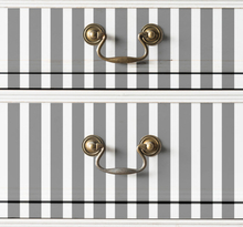 Meubelstickers grijze verticale lijnen