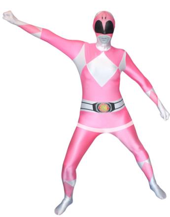 Morphsuit Power Ranger Pink - Kostyme