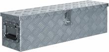 vidaXL aluminiumskasse 80,5 x 22 x 22 cm sølvfarvet
