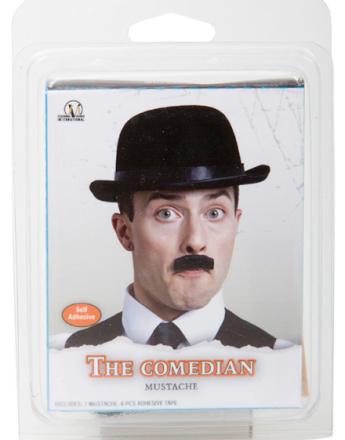 The Comedian Mustache - Svart Løsbart