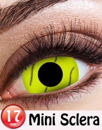 Green Alien Eyes Mini Sclera 17 mm Crazylinser