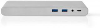 USB-adapter   USB 3.0   USB Typ-C™   1x DisplayPort / 1x HDMI® / 1x RJ45 / 1x VGA / 2x 3.5 mm / 2x USB Type-C™ / 4x USB Type-A   0.20 m   Rund   Nickelplaterad   Flätad / Nylon   Vit   Window Box med Euro Lock