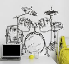 Rock sticker drumstel