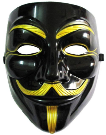 Guy Fawkes - V for Vendetta Maske - Svart