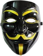 Guy Fawkes - V for Vendetta Maske - Svart
