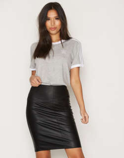 Only onlTICKET Faux Leather Skirt Otw No Svart