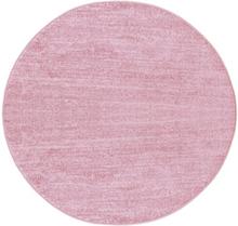 Maskinvävd matta Esme - Rosa - Rund Ø160 cm