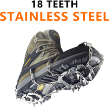 Stainless Steel 18 Teeth Universal Anti Slip Ice Snow Shoe Boot Grips Traction Cleats Crampon Spikes Crampons ramponi