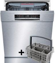Bosch SMU67MS03S opvaskemaskine Rustfrit stål bestikbakke + kurv