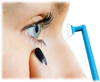 Lens-in, kontaktlinserna på plats snabbt och enkelt.