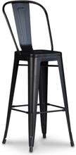 2 st Barstol Industry Cayote (Hög rygg) - Matt svart