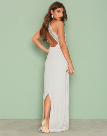NLY Eve Maxi Crepe Gown Lys blå