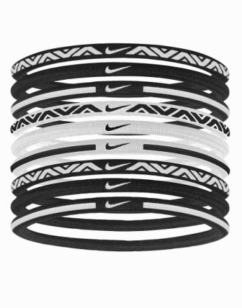 Øvrig - Hvit/Svart Nike Elastic Hairband 9-Pack