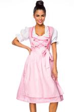 70bf4ddd Rosa og Hvit Rutete Oktoberfestkjole med Bluse og Forkle