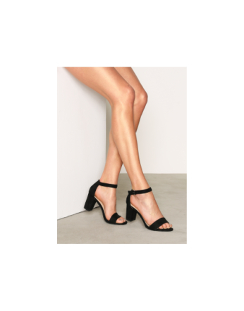 High Heel - Svart NLY Shoes Block Mid Heel Sandal
