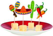 12 stk Matflagg - Taco Fiesta