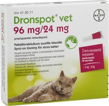 Spot-on, lösning för stora katter 96 mg/ 24 mg
