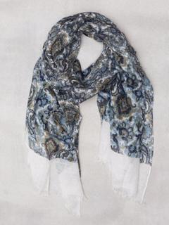 Amanda Christensen Printed Single Scarf Halsdukar & scarves White