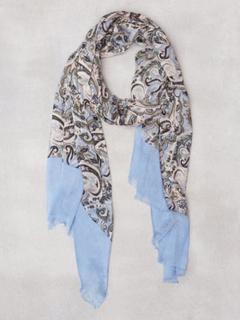 Amanda Christensen Printed Single Scarf Halsdukar & scarves Sky Blue