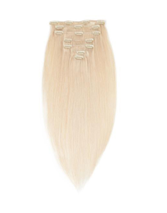 Rapunzel Of Sweden 30 cm Clip-on set Original 7 pieces Light Blond