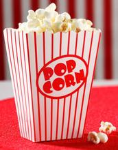8 stk Popcornbeger i Papp - Retro Cinema