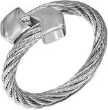 Spain - Silverfärgad Ring i Tvinnat Stål