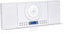 Wallie Microsystem CD-player Bluetooth USB-port fjärrkontroll vit