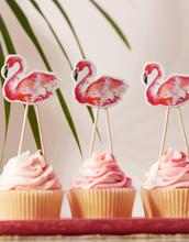 8 stk Kakedekorasjoner - Pink Flamingo