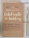 10 st Bröllopskort till Kyrka och Fest - Vintage w