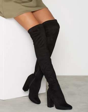 NLY Shoes Block Heel Thigh Boot