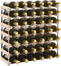 vidaXL Vinställ för 42 flaskor massiv furu