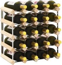 vidaXL Vinställ för 20 flaskor massiv furu