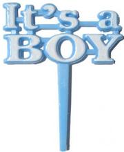 8 stk Its a Boy Kakedekorasjoner 6 cm
