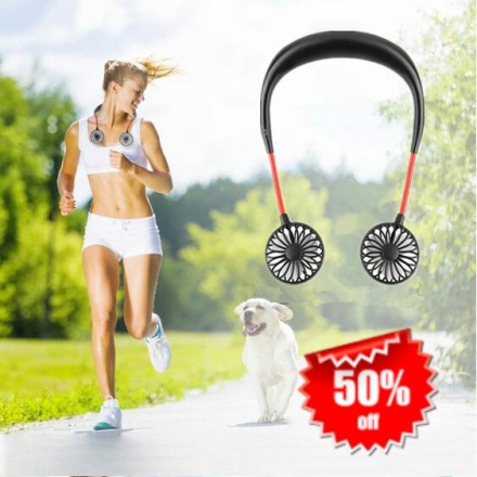 2019 New USB Portable Fan Hands-free Neck Hanging USB Charging Outdoor Mini Portable Sports Fan 3 gears Usb Air Conditioner