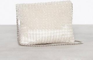Topshop Beaded Shoulder Bag Kuvertväskor Clear