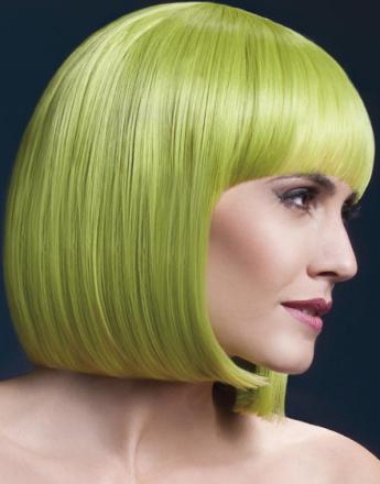Elise Delux Wig - Kan Styles! - Pastell Grønn Buet Bob Frisyre