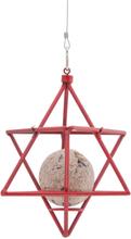 Wildlife Garden - Suet Ball Feeder Star, Red