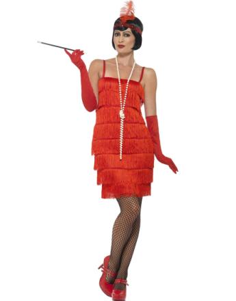 Daisy The Gatsby Flapper Damekostyme - Rød