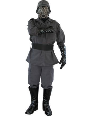 WW2 Soldat Lyx Kostym med Gasmask