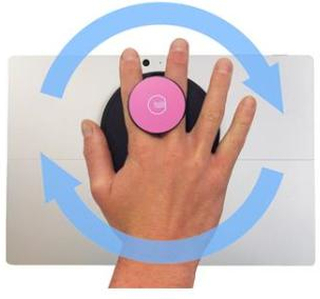 G-Hold Ergonomic Handhold for Microsoft Surface (Low-profile Velcro) /Pink