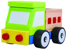 Tooky Toy - Leksaksbil Lastbil I Trä Tooky Toy