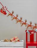 Jultomte och Ren Banner 2 Meter - Julens Snögubbe