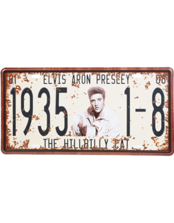 Elvis Presley Metallskylt 31 x 15 cm
