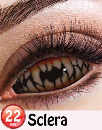 Horror Teeth - 22 mm Heldekkende Sclera Linser
