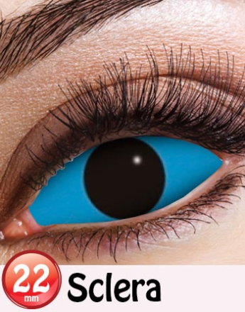 Blå 22 mm Heldekkende Sclera Linser